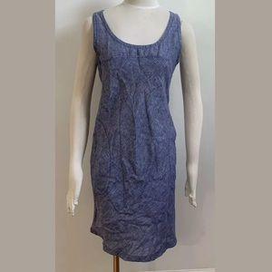 Horny Toad Linen Blue Sleeveless Dress Women's S